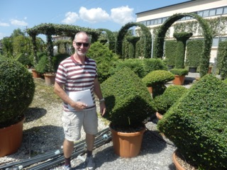 Peter from Rainbow Plants at one of the Italian tree nurseries